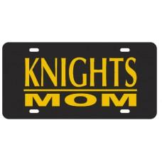 KNIGHTS MOM BAR BLACK - License Plate