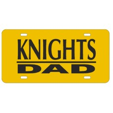 KNIGHTS DAD BAR YELLOW - License Plate
