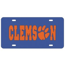 CLEMSON PAW BLUE - License Plate
