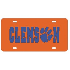 CLEMSON PAW ORANGE - License Plate