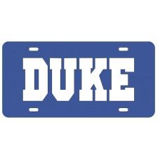DUKE BLUE- License Plate