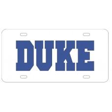 DUKE WHITE - License Plate