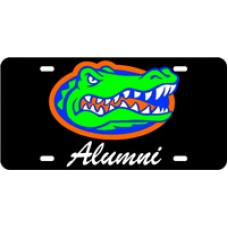 GATOR HEAD ALUMNI SCRIPT - Black License Plate