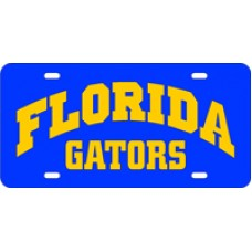 FLORIDA ARCHED GATORS BLUE - License Plate
