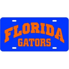 FLORIDA ARCHED GATORS ORANGE- License Plate