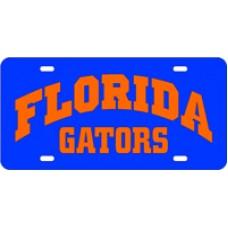 FLORIDA ARCHED GATORS ORANGE- License Plate