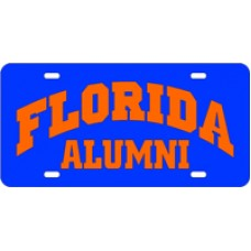 FLORIDA ARCHED ALUMNI BLUE - License Plate