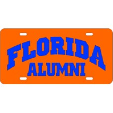 FLORIDA ARCHED ALUMNI ORANGE - License Plate
