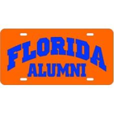 FLORIDA ARCHED ALUMNI ORANGE - License Plate