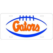 PIGSKIN GATORS - White License Plate
