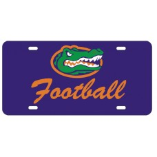 GATOR HEAD FOOTBALL SCRIPT - Blue License Plate