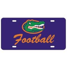 GATOR HEAD FOOTBALL SCRIPT - Blue License Plate