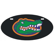 GATOR HEAD - Black License Plate OVAL