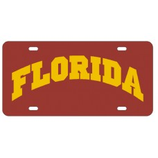 FLORIDA ARCHED RED- License Plate
