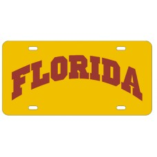 FLORIDA ARCHED YELLOW - License Plate