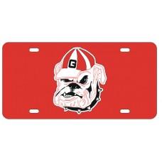 BULLDOG - Red License Plate