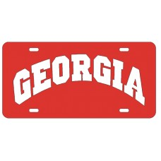 GEORGIA ARCHED - Red License Plate