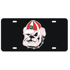 BULLDOG - Black License Plate
