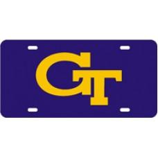 GT INTERLOCK - Purple License Plate