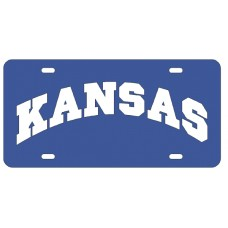 KANSAS ARCHED - Blue License Plate