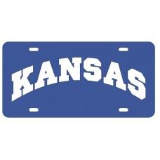 KANSAS ARCHED - Blue License Plate