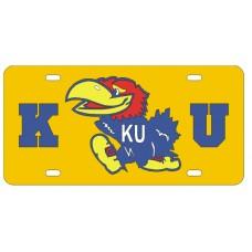 K JAYHAWK U - Yellow License Plate