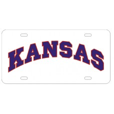 KANSAS ARCHED OUTLINE - License Plate