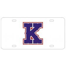 K OUTLINE - License Plate
