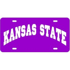KANSAS STATE ARCHED - Purple License Plate