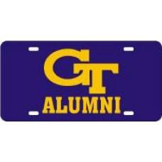 GT INTERLOCK ALUMNI - Purple License Plate