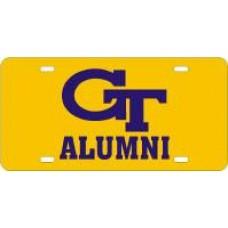 GT INTERLOCK ALUMNI - Yellow License Plate