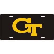 GT INTERLOCK - Black License Plate