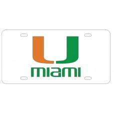 U MIAMI - White License Plate
