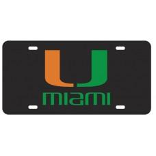 U MIAMI - Black License Plate