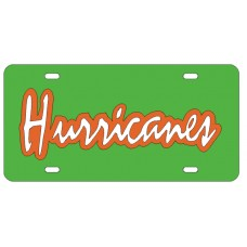 HURRICANES - Green License Plate