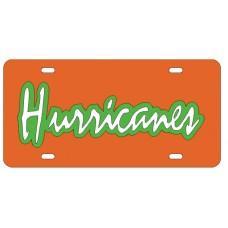 HURRICANES - Orange License Plate