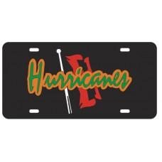 HURRICANES FLAG - Black License Plate