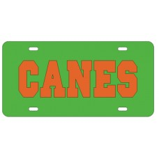 CANES - Green License Plate