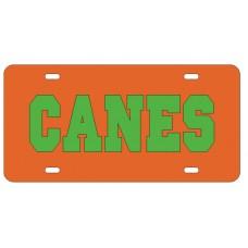 CANES - Orange License Plate