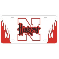 N HUSKERS FLAMES - FIRE UP