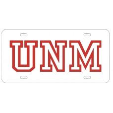 UNM OUTLINE - White License Plate