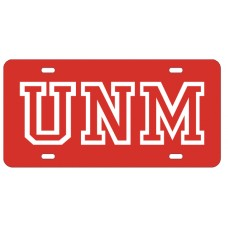 UNM OUTLINE - Red License Plate