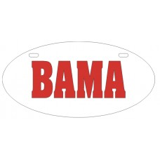 BAMA - License Plate OVAL