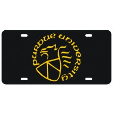 PURDUE LOGO - Black License Plate