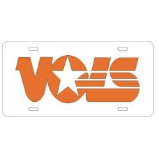 VOLS - White License Plate