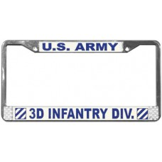 3d infantry division license plate frame