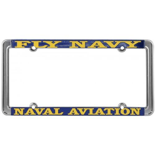 fly navy naval aviatin thin rim license plate frame