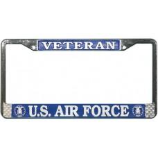 USAF Veteran License Plate Frame