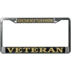 Desert Storm Veteran License Plate Frame