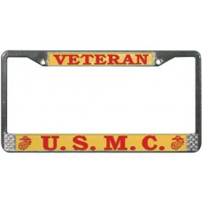 USMC Veteran License Plate Frame